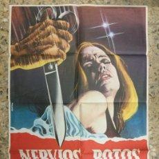 Cine: NERVIOS ROTOS - HAYLEY MILLS - HYWEL BENNETT - ROY BOULTING - 1974 - 100X70. Lote 224824228