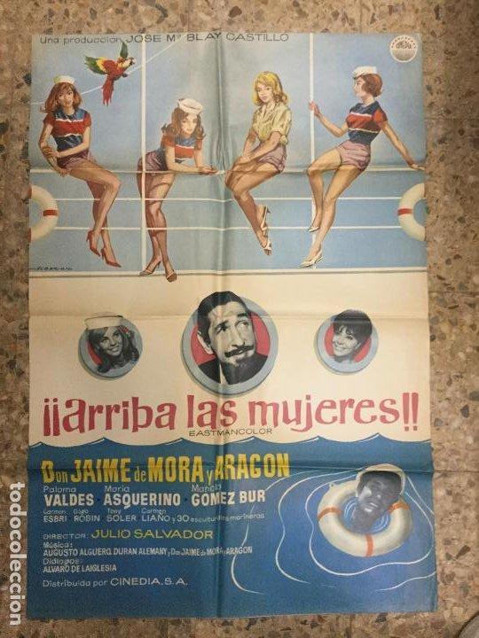 ARRIBA LAS MUJERES - JAIME DE MORA Y ARAGON - JULIO SALVADOR - 100X70 - BUEN ESTADO (Cine - Posters y Carteles - Clasico Español)