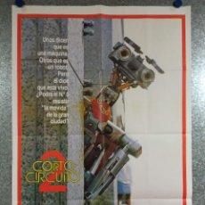 Cine: CORTOCIRCUITO 2. TIM BLANEY, FISHER STEVENS, MICHAEL MCKEAN. AÑO 1988. POSTER ORIGINAL. Lote 224842080