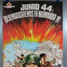 Cine: JUNIO 44: DESEMBARCAREMOS EN NORMANDÍA. MICHAEL RENNIE, BOB SULLIVAN, AÑO 1975. POSTER ORIGINAL. Lote 224843801