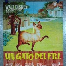 Cine: UN GATO DEL FBI. HAYLEY MILLS, DEAN JONES, DOROTHY PROVINE, DISNEY. AÑO 1980. POSTER ORIGINAL. Lote 224851803