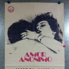 Cine: AMOR ANÓNIMO. FLORINDA BOLKAN, MASSIMO RANIERI. AÑO 1985. POSTER ORIGINAL. Lote 269096913