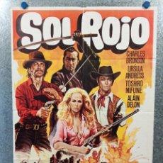 Cine: SOL ROJO. CHARLES BRONSON, URSULA ANDRESS, ALAIN DELON. AÑO 1980. POSTER ORIGINAL. Lote 224872801