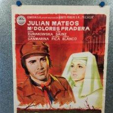 Cinema: LA ORILLA. JULIÁN MATEOS, DYANIK ZURAKOWSKA, MARÍA DOLORES PRADERA AÑO 1971 POSTER ORIGINAL. Lote 224886408