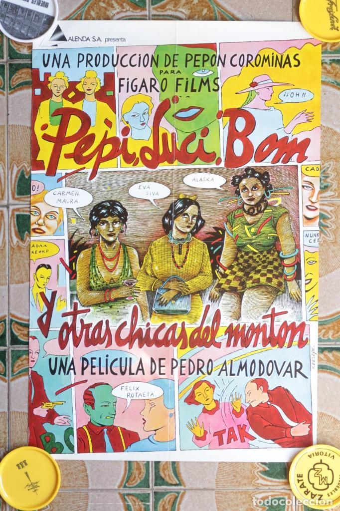 PEPI, LUCI, BOM Y OTRAS CHICAS DEL MONTÓN - CARTEL 60X40 CM - ALMODÓVAR - CEESEPE (Cine - Posters y Carteles - Comedia)