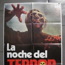 Cine: CDO 7034 LA NOCHE DEL TERROR ANDREA BIANCHI ZOMBIE POSTER ORIGINAL 70X100 ESTRENO. Lote 225146213