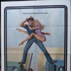 Cine: COAST TO COAST, AÑO 1980, PÓSTER DE LA PELÍCULA HOJA 27X41, DYAN CANNON ROBERT BLAKE. Lote 225189558