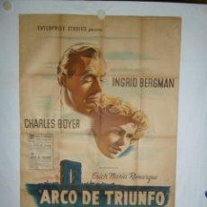 Cine: ARCO DE TRIUNFO - 110 X 75CM - 1948 - LITOGRAFICO. Lote 225236508