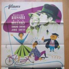 Cine: CARTEL CINE LOS ESCANDALOS DE LA PROFESORA ROSALIND RUSSELL ALE LITOGRAFIA ORIGINAL C1966. Lote 225245680