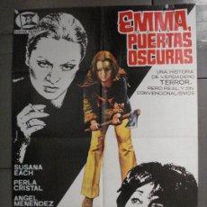 Cine: CDO 7060 EMMA PUERTAS OSCURAS JOSE RAMON LARRAZ POSTER ORIGINAL ESTRENO 70X100. Lote 225300630