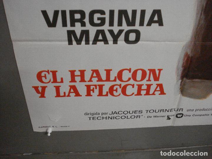 Cine: CDO 7071 EL HALCON Y LA FLECHA BURT LANCASTER JACQUES TOURNEUR POSTER ORIGINAL 70X100 ESPAÑOL R-73 - Foto 5 - 225309810