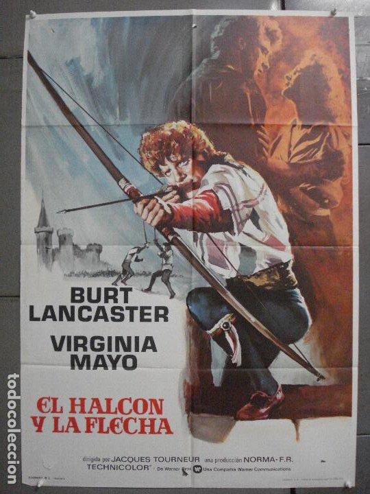 CDO 7071 EL HALCON Y LA FLECHA BURT LANCASTER JACQUES TOURNEUR POSTER ORIGINAL 70X100 ESPAÑOL R-73 (Cine - Posters y Carteles - Aventura)