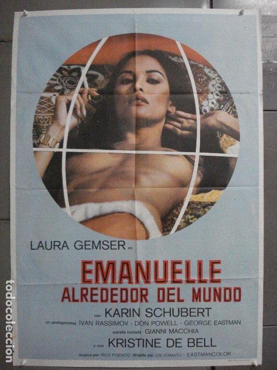 CDO 7077 EMANUELLE ALREDEDOR DEL MUNDO JOE D'AMATO LAURA GEMSER POSTER ORIGINAL ESTRENO 70X100 (Cine - Posters y Carteles - Terror)