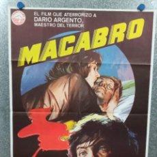 Cinéma: MACABRO. BERNICE STEGERS, STANKO MOLNAR, DARIO ARGENTO. AÑO 1980. POSTER ORIGINAL. Lote 225357230