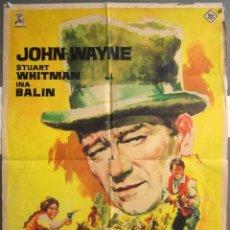 Cine: ZD97D LOS COMANCHEROS JOHN WAYNE JANO POSTER ORIGINAL 70X100 ESTRENO. Lote 225416180