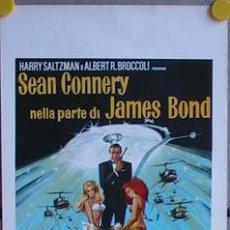 Cine: QP15 DIAMANTES PARA LA ETERNIDAD JAMES BOND 007 SEAN CONNERY POSTER ORIGINAL ITALIANO 33X70. Lote 225498750