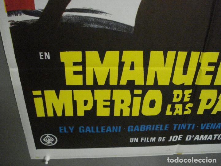 Cine: CDO 7099 EMANUELLE Y EL IMPERIO DE LAS PASIONES JOE DAMATO LAURA GEMSER POSTER ORIG ESTRENO 70X100 - Foto 5 - 225499510