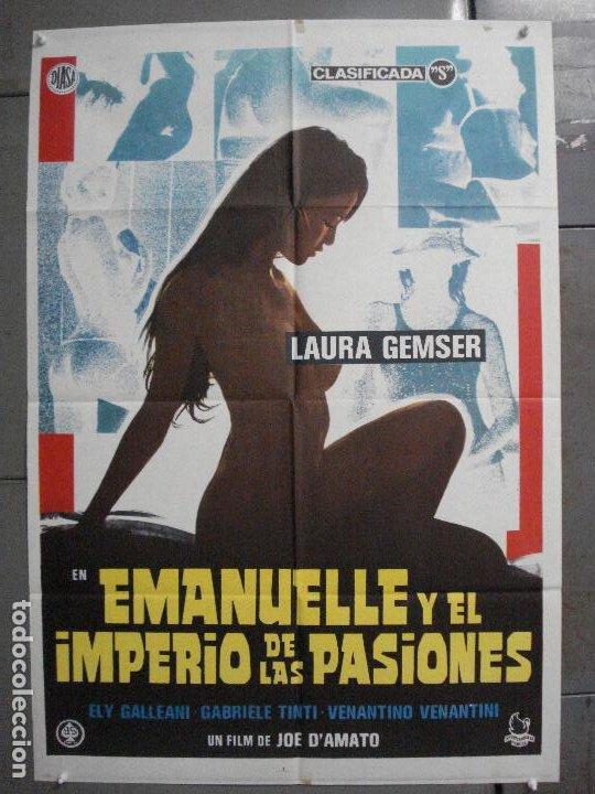 CDO 7099 EMANUELLE Y EL IMPERIO DE LAS PASIONES JOE D'AMATO LAURA GEMSER POSTER ORIG ESTRENO 70X100 (Cine - Posters y Carteles - Terror)