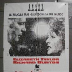 Cine: CDO 7102 QUIEN TEME A VIRGINIA WOOLF ELIZABETH TAYLOR RICHARD BURTON POSTER ORIGINAL 70X100 ESTRENO. Lote 225501485