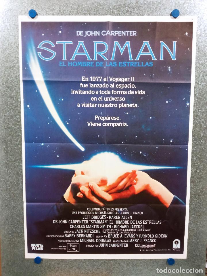 STARMAN, EL HOMBRE DE LAS ESTRELLAS. JEFF BRIDGES, KAREN ALLEN. AÑO 1984. POSTER ORIGINAL (Cine - Posters y Carteles - Ciencia Ficción)