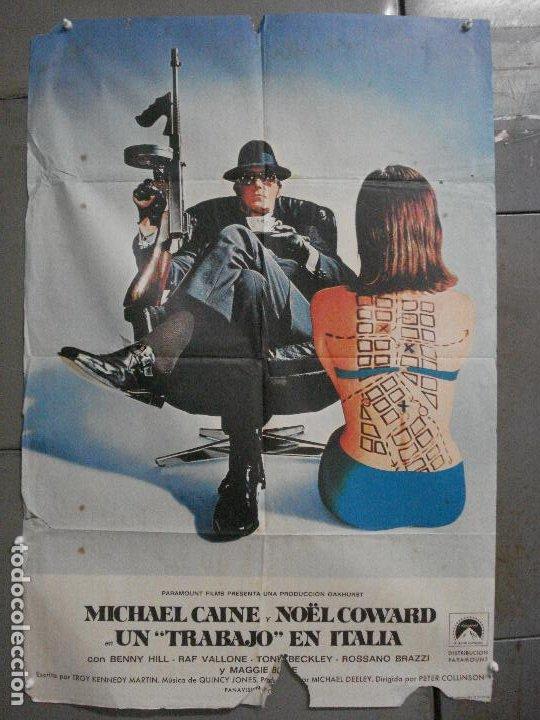CDO 7109 UN TRABAJO EN ITALIA THE ITALIAN JOB MICHAEL CAINE POSTER ORIGINAL ESTRENO 70X100 (Cine - Posters y Carteles - Acción)