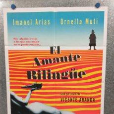 Cine: EL AMANTE BILINGÜE. IMANOL ARIAS, ORNELLA MUTI, LOLES LEÓN. AÑO 1982. POSTER ORIGINAL. Lote 269096903