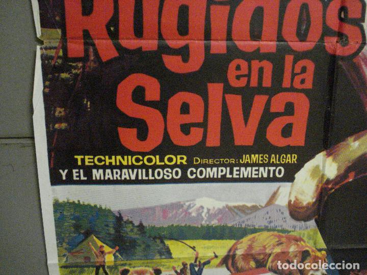 Cine: CDO 7120 RUGIDOS EN LA SELVA WALT DISNEY POSTER ORIGINAL 70X100 ESTRENO - Foto 4 - 225566725