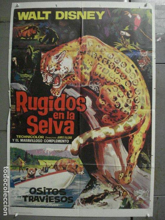 CDO 7120 RUGIDOS EN LA SELVA WALT DISNEY POSTER ORIGINAL 70X100 ESTRENO (Cine - Posters y Carteles - Documentales)