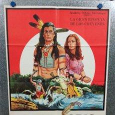 Cine: ÁGUILA GRIS. BEN JOHNSON, IRON EYES CODY, LANA WOOD. AÑO 1979. POSTER ORIGINAL. Lote 269096503
