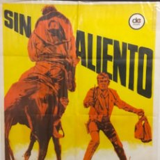 Cine: CARTEL DE CINE PELICULA 'SIN ALIENTO'. DIBUJO DE JANO. CINEMASCOPE. EASTMAN COLOR. 1969. Lote 225773550