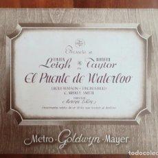 """Cine: LOBBY CARD ORIGINAL """"EL PUENTE DE WATERLOO"""" 1940-""""WATERLOO BRIDGE"""" - VIVIEN LEIGH & ROBERT TAYLOR. Lote 145868766"""