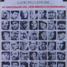 Cine: EY88D EL DIA MAS LARGO JOHN WAYNE SEGUNDA GUERRA MUNDIAL POSTER ORIGINAL 70X100 ESPAÑOL R-84. Lote 226101415