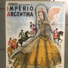 Cine: E239 LOS MAJOS DE CADIZ IMPERIO ARGENTINA BENITO PEROJO POSTER ORIGINAL ARGENTINO 75X110 LITOGRAFIA. Lote 18253035
