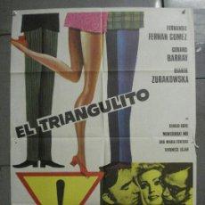 Cine: CDO 7147 EL TRIANGULITO FERNANDO FERNAN GOMEZ GERARD BARRAY FORQUE POSTER ORIGINAL 70X100 ESTRENO. Lote 226275710