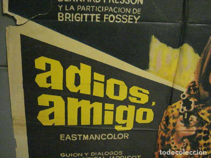 Cine: CDO 7157 ADIOS AMIGO ALAIN DELON CHARLES BRONSON POSTER ORIGINAL 70X100 ESTRENO - Foto 4 - 226289430