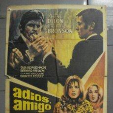 Cine: CDO 7157 ADIOS AMIGO ALAIN DELON CHARLES BRONSON POSTER ORIGINAL 70X100 ESTRENO. Lote 226289430