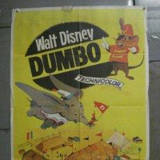 Cine: CDO 7163 DUMBO WALT DISNEY POSTER ORIGINAL 70X100 ESPAÑOL R-66. Lote 226292025