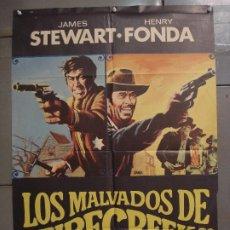 Cine: CDO 7185 LOS MALVADOS DE FIRECREEK JAMES STEWART HENRY FONDA JANO POSTER ORIGINAL 70X100 ESTRENO. Lote 226337413