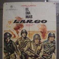 Cine: CDO 7203 EL DIA MAS LARGO JOHN WAYNE SEGUNDA GUERRA MUNDIAL MAC POSTER ORIGINAL 70X100 ESPAÑOL R-73. Lote 226352310
