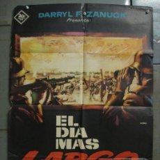 Cine: CDO 7205 EL DIA MAS LARGO JOHN WAYNE SEGUNDA GUERRA MUNDIAL MAC POSTER ORIGINAL 70X100 ESTRENO. Lote 226353370