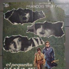 Cine: CDO K300 EL PEQUEÑO SALVAJE TRUFFAUT MAC POSTER ORIGINAL 70X100 ESTRENO. Lote 226493460