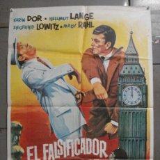 Cine: CDO K262 EL FALSIFICADOR DE LONDRES EDGAR WALLACE KARIN DOR POSTER ORIGINAL 70X100 ESTRENO. Lote 226607970