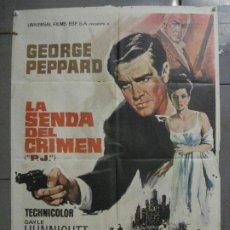 Cine: CDO 7208 LA SENDA DEL CRIMEN GEORGE PEPPARD RAYMOND BURR POSTER ORIGINAL 70X100 ESTRENO. Lote 226634795