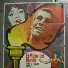 Cine: CDO 7214 EL MEJOR DEL MUNDO TONY ISBERT JOSE BODALO ATLETISMO POSTER ORIGINAL 70X100 ESTRENO. Lote 226638165