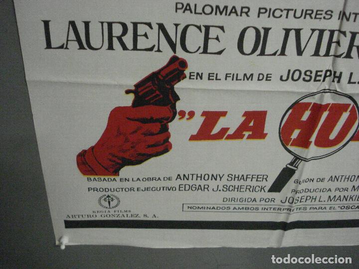 Cine: CDO 7215 LA HUELLA LAURENCE OLIVIER MICHAEL CAINE JOSEPH L. MANKIEWIC MAC POSTER ORIG 70X100 ESTRENO - Foto 5 - 226763400