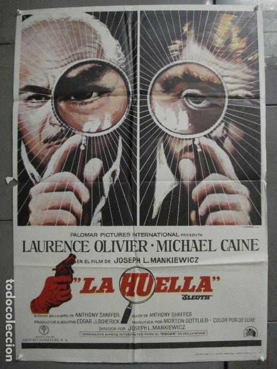 CDO 7215 LA HUELLA LAURENCE OLIVIER MICHAEL CAINE JOSEPH L. MANKIEWIC MAC POSTER ORIG 70X100 ESTRENO (Cine - Posters y Carteles - Suspense)