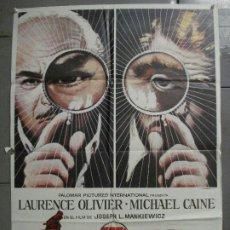 Cine: CDO 7215 LA HUELLA LAURENCE OLIVIER MICHAEL CAINE JOSEPH L. MANKIEWIC MAC POSTER ORIG 70X100 ESTRENO. Lote 226763400
