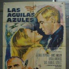 Cinema: CDO 7323 LAS AGUILAS AZULES GEORGE PEPPARD URSULA ANDRESS MASON MAC POSTER ORIGINAL 70X100 ESTRENO. Lote 226863602