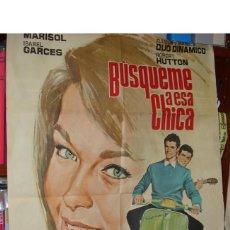 Cine: BUSQUEME ESA CHICA ORIGINAL ESTRENO 1965,DEP.LEGAL 1964, BIEN-IMPORTANTE LEER Y VER FOTOS. Lote 226879560