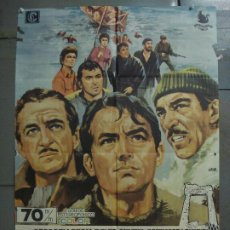 Cine: CDO 7334 LOS CAÑONES DE NAVARONE GREGORY PECK JANO POSTER ORIGINAL 70X100 ESPAÑOL R-70. Lote 226882634